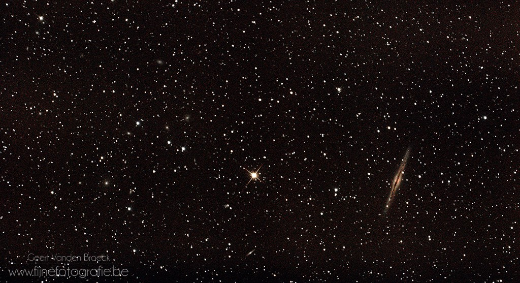 "NGC 891: Astrophotography with the Xuji X-T1 and Sky-Watcher 8"" f5 Newton telescope"